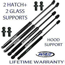 5 PCS 1 Hood 2 Hatch 2 Glass Window Rear Liftgate Lift Supports Shock Strut Arms
