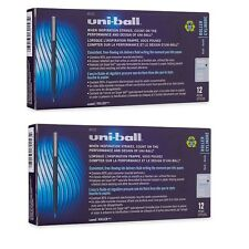24 - UNIBALL Roller Pens - MICRO BLUE 0.5mm - Rollerball - 2 Boxes of 12