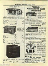 1940 ADVERT 3 PG Coleman Auto Trailer Cook Stove Camp Stove Parts Repair List
