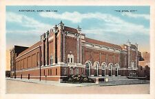 GARY INDIANA THE AUDITORIUM IN THE STEEL CITY POSTCARD c1920s