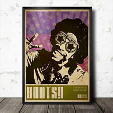 Bootsy Collins Art Poster Music Soul  Funk Gil Scott Heron James Brown