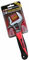 Am-Tech 2-in-1 Adjustable/ Pipe Wrench with Wide Jaw Covers - C1678