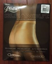 NEW Platino NO waistband CLEANCUT Sheer to Waist Pantyhose/Tights *HAWAI*  *L*