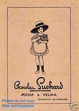 Schokolade Suchard Milka Velma Reklame v. 1913 Mädchen Kleid Sommerhut Sonnenhut