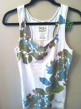 NEW!  Life Is Good Ladies Flowered Razorback Tank Large