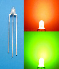 20 Pcs 3mm Dual Bi-Color Red/Green diffused 3 Pin LED Common Anode
