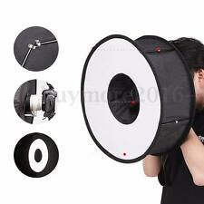 45cm Foldable Macro Ring Circular Round Softbox Speedlite Flash Light For Canon