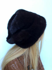 Natural Mink Fur Full Hat Adjustable Finland Saga Furs All Fur 'Rasta' Model Hat