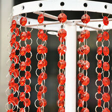 33 FT Crystal Red Bead Acrylic Garland Chandelier Hanging Wedding Supplies