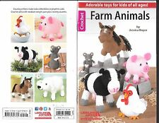 Farm Animals Crochet Small PB Booklet Pattern Horse Cow Pig Chicken Sheep Mouse