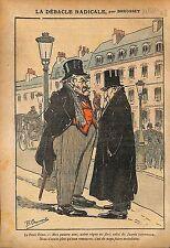 Caricature Antiparlementaire Petit Père Combes Jean Jaurès WWI 1914 ILLUSTRATION