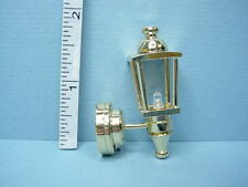Dollhouse Miniature Battery Operated Light - Brass Coach Lamp W1SNB