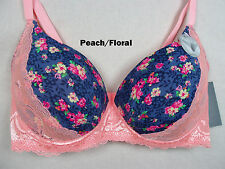 Womens Plus Size PUSH UP Bra Underwire underwear True To Size 32-44 DD #60025