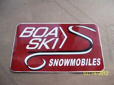 "4"" X 6.5"" BOA-SKI Snowmobiles (Maroon, Black and White New Vinyl STICKER)"