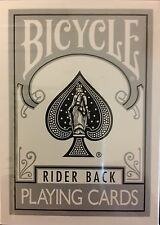 Silver Bicycle Rider Back Deck Playing Cards Poker Size USPCC Custom Limited New