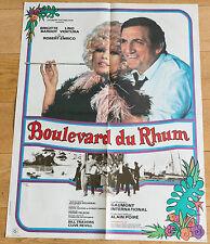 Affiche de cinéma : BOULEVARD DU RHUM de ROBERT ENRICO -  BRIGITTE BARDOT