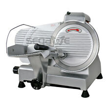 """NEW 240W 10"""" Kitchen Deli Meat Slicer Electric 600RPM Cheese Food Slice Machine"""