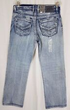 TK Axel Kensington Treadwell Distressed Straight Leg Mens Denim Blue Jeans 30x30