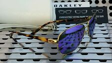 New Oakley 4079-18  FEEDBACK Women's Aviator Sunglasses Gold/Violet Polarized