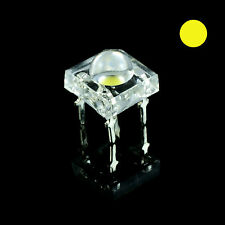 10 x Yellow Piranha 5mm Super Flux LED Bulb