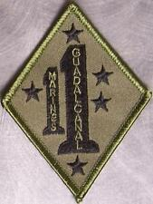 Embroidered Military Patch USMC 1st Marines 1st Division Guadalcanal NEW jungle
