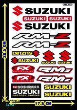 Red+Yellow Suzuki Yoshimura LOGO motorcycle RM-Z Racing Clear sticker Car Decals