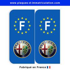 Sticker plaque alfa romeo 01  F (jeu de 2 stickers)