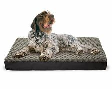 FurHaven NAP Pet Bed Memory Foam Top Orthopedic Mattress Deluxe Dog Bed, Water-r
