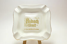 German Brandy Advertising Ashtray ASBACH URALT - Thomas Germany