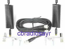 CB Radio Twin Antenna Kit - Complete with Springers/Aerials, Harness and Mounts