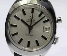 Authentic OMEGA Geneve Chronostop Date Hand-winding Men's Wrist Watch _327917