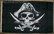 3X5 Deadman Chest Pirate Jolly Roger Flag Tricorner Skull Swords Knife Deadman's