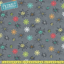 Michael Miller Fabric Star Jacks Multi PER METRE Atomic Sputnik Retro 50s 60s Ch