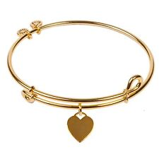 Authentic SOL 240069 - Signs of Life - Heart Tag, Bangle 18K Gold Plated