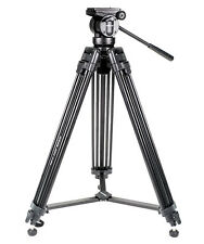Phot-R Video 155cm 3-Section Aluminium Tripod with Fluid Pan Tilt Head MVK502AM