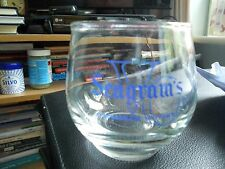 Vintage Seagram's Canadian Whisky Glass Late 1960's Early 1970's
