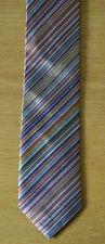 PAUL SMITH Multistripe skinny silk tie Signature Stripe striped MADE IN ENGLAND