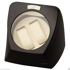 Diplomat Automatic Double Watch Winder w/ Bi-Directional Smart Timer Control