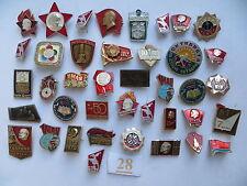 40 set lot SOVIET RUSSIAN BADGE PIN medal USSR KPSS Komsomol Pioneer VLKSM LENIN