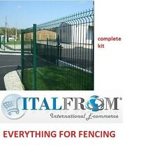 FENCE PANEL RAILINGS GREEN – COMPLETE KIT - H180cm – 20m LINEAR
