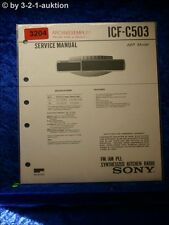 Sony Service Manual ICF C503 PLL Synthesized Kitchen Radio (#3204)