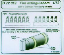 CMK Blitz B72019 1/72 Resin Detail Kit WWII German Fire Extinguishers 12 pcs