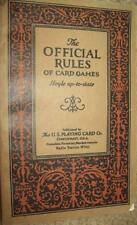 1926 Official Rules Of Card Games Hoyle U.S. Playing Card Co POKER Instructions