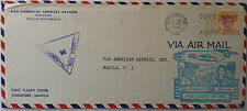 SINGAPORE 1941 PAN AM FIRST FLIGHT COVER TO PHILIPPINES DON'T WRITE ABOUT SHIPS