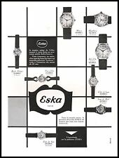 Publicité Montre ESKA Suisse Watch photo vintage  ad  1954 -9i