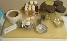 Lot of Candle Making Supplies, Wax, Wicks, Scents, Jars, Floater Mold, Labels