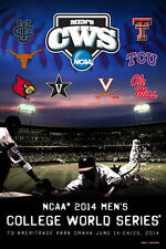 NCAA Baseball 2014 College World Series Official 8-Team-Logos Event Poster
