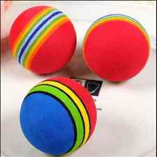 NEW Puppy Rainbow Chew Ball Dog Rubber Cleaning Teeth Ball Pet Toys Supplies WJ5