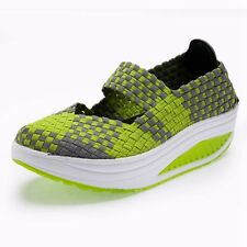 Multis Summer Shape Ups Walking Fitness Platform Wedge Sneakers Creeper Shoes