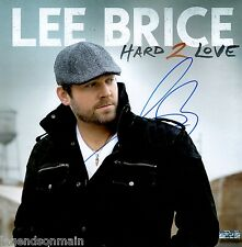 "Lee Brice Hard 2 Love ""I drive your Truck"" Signed 12x12 Album Cover Photo HOLO"